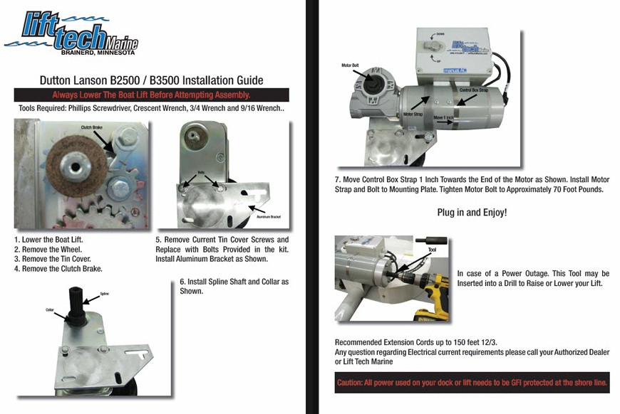 Boat Lift Motor Kits