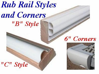 White Vinyl Rub Rail
